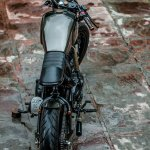 Royal Enfield Thunderbird 500 cafe racer by Rajputana Customs top view