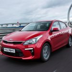 Russian-spec 2017 Kia Rio sedan front three quarters left side