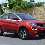 Tata Nexon XZ+ Vermont Red dual tone colour