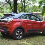 Tata Nexon Review Test Drive Rear Three Quarters