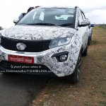 Tata Nexon front three quarters Karnataka spy shot