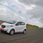 Datsun redi-GO 1.0 Review front left tracking shot