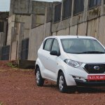 Datsun redi-GO 1.0 Review front three quarters