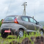 Datsun redi-GO 1.0 Review gray rear three quarters