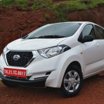 Datsun redi-GO 1.0 Review white three quarters