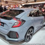 2017 Honda Civic Hatchback rear three quarters right side at GIIAS 2017