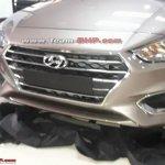 2017 Hyundai Verna spied undisguised front view