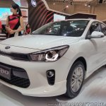 2017 Kia Rio front three quarters at GIIAS 2017