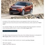 2017 Land Rover Discovery email price India