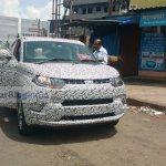2017 Mahindra KUV100 (facelift) prototype front spied