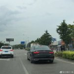 2018 Audi A8 L Spied in China tail lamp glow pattern