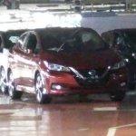 2018 Nissan Leaf front three quarters undisguised spy shot