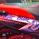 Aprilia SR150 body graphics with Chelsea livery at Nepal Auto Show 2017