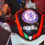 Aprilia SR150 dome with Chelsea livery at Nepal Auto Show 2017
