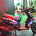 Aprilia SR150 side with Chelsea livery at Nepal Auto Show 2017