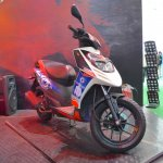 Aprilia SR150 with Chelsea livery at Nepal Auto Show 2017