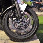 Bajaj Dominar 400 at Nepal Auto Show front wheel