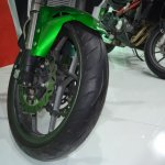 Benelli 302R at Nepal Auto Show front tyre