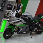 Benelli 302R at Nepal Auto Show left side