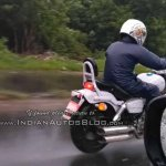 Benelli MotoBi 250 Patagonian Eagle spied rear right quarter closeup