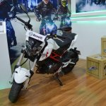 Benelli TNT 135 at Nepal Auto Show front left quarter