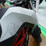 Benelli TNT 135 at Nepal Auto Show fuel tank