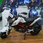 Benelli TNT 135 at Nepal Auto Show left side