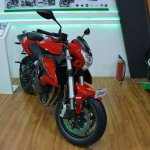 Benelli TNT 600i at Nepal Auto Show front suspension