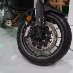 Benelli TRK 502 at Nepal Auto Show front wheel