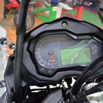 Benelli TRK 502 at Nepal Auto Show instrument cluster