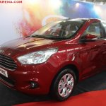 Ford Aspire Tour showcased at Prawaas 2017 front three quarters