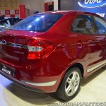 Ford Figo Aspire rear three quarters at Nepal Auto Show 2017