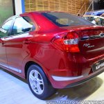 Ford Figo Aspire rear three quarters left side at Nepal Auto Show 2017