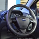Ford Figo Aspire steering wheel at Nepal Auto Show 2017