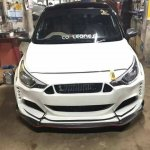 Ford 'Mustang' body kit for the Hyundai i20 Elite front view