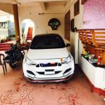 Ford 'Mustang' body kit for the Hyundai i20 Elite full front view