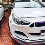 Ford 'Mustang' body kit for the Hyundai i20 Elite headlamp and bumper