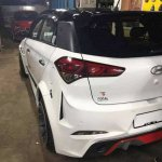 Ford 'Mustang' body kit for the Hyundai i20 Elite rear