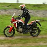 Honda Africa Twin India review action shot