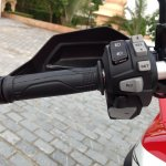 Honda Africa Twin India review handlebar left