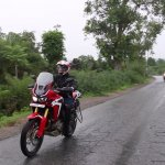 Honda Africa Twin India review motion front three quarter