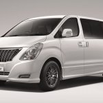 Hyundai H-1 Limited II front three quarters studio image