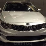 Kia Optima showcased at Kia dealer roadshow front