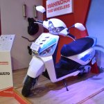 Mahindra Gusto 125 front three quarters at Nepal Auto Show