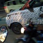 Mahindra KUV100 facelift spied smoked alloy wheels