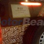 Mahindra TUV500 back glass spy shot