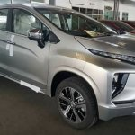 Mitsubishi Xpander front three quarters right side spy shot