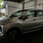 Mitsubishi Xpander front three quarters spy shot