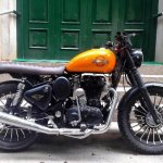 Royal Enfield Classic 350 Achilles Bulleteer Customs right side closeup
