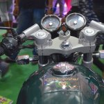 Royal Enfield Continental GT cluster at the Nepal Auto Show 2017